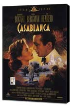 Casablanca - 11 x 17 Movie Poster - Style C - Museum Wrapped Canvas