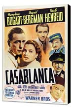 Casablanca - 11 x 17 Movie Poster - Style O - Museum Wrapped Canvas