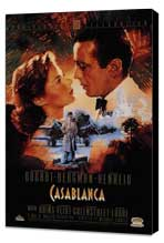 Casablanca - 27 x 40 Movie Poster - Style I - Museum Wrapped Canvas