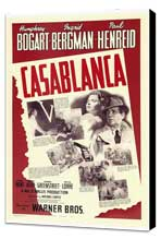 Casablanca - 27 x 40 Movie Poster - Style G - Museum Wrapped Canvas