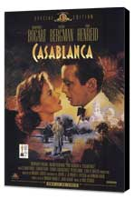 Casablanca - 27 x 40 Movie Poster - Style A - Museum Wrapped Canvas