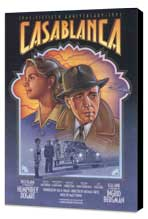 Casablanca - 27 x 40 Movie Poster - Style F - Museum Wrapped Canvas