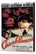 Casablanca - 14 x 36 Movie Poster - Insert Style A - Museum Wrapped Canvas