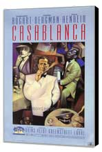 Casablanca - 27 x 40 Movie Poster - Style D - Museum Wrapped Canvas