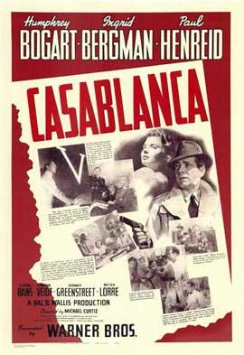 Casablanca - 11 x 17 Movie Poster - Style V