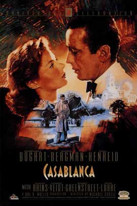 Casablanca - 27 x 40 Movie Poster - Style I