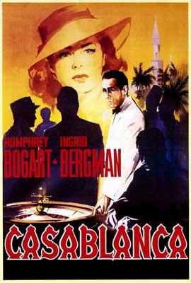 Casablanca - 27 x 40 Movie Poster - Italian Style A