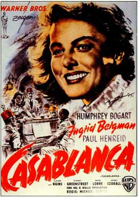 Casablanca - 11 x 17 Movie Poster - German Style A