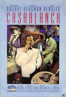 Casablanca - 11 x 17 Movie Poster - Style J