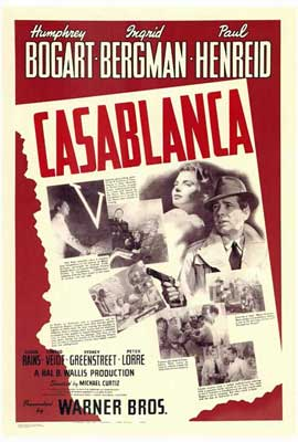 Casablanca - 27 x 40 Movie Poster - Style G