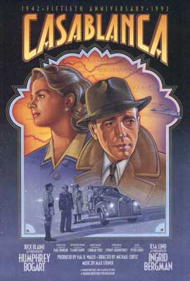 Casablanca - 27 x 40 Movie Poster - Style F