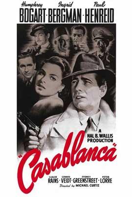 Casablanca - 27 x 40 Movie Poster - Style B