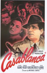 Casablanca - Movie Poster - 22 x 34 - Style A