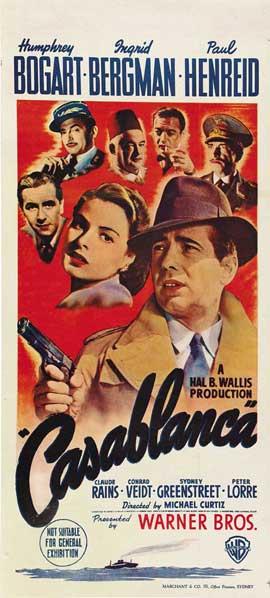 Casablanca - 13 x 30 Movie Poster - Australian Style A