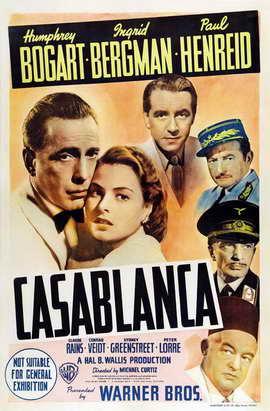Casablanca - 11 x 17 Movie Poster - Style O