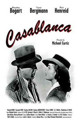 Casablanca - 11 x 17 Movie Poster - Style G