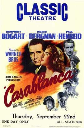 Casablanca - 27 x 40 Movie Poster - Style E