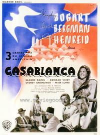 Casablanca - 27 x 40 Movie Poster - Belgian Style A