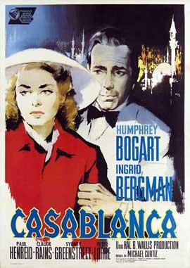 Casablanca - 27 x 40 Movie Poster - Italian Style B