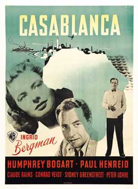 Casablanca - 11 x 17 Movie Poster - Swedish Style A