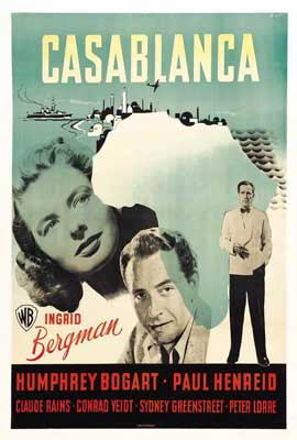 Casablanca - 27 x 40 Movie Poster - Swedish Style A