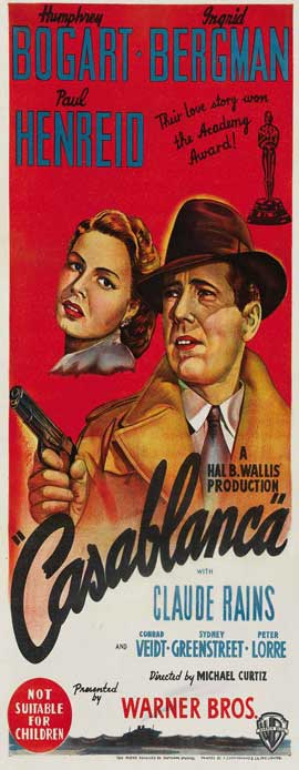 Casablanca - 14 x 36 Movie Poster - Australian Style B