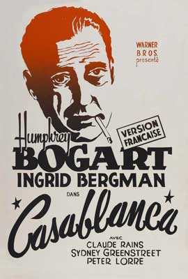 Casablanca - 27 x 40 Movie Poster - French Style A