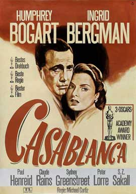 Casablanca - 27 x 40 Movie Poster - German Style A