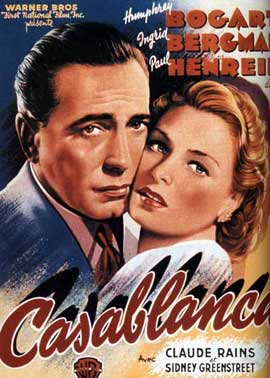 Casablanca - 11 x 17 Movie Poster - French Style D