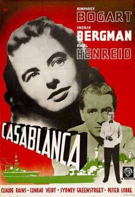 Casablanca - 11 x 17 Movie Poster - Swedish Style B