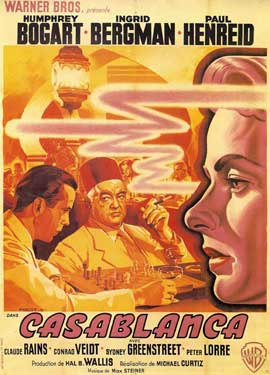 Casablanca - 11 x 17 Movie Poster - French Style E