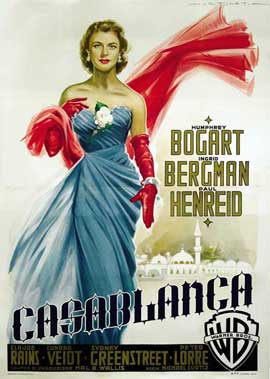 Casablanca - 27 x 40 Movie Poster - Style K
