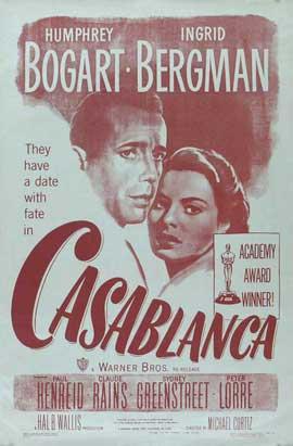 Casablanca - 27 x 40 Movie Poster - Style M