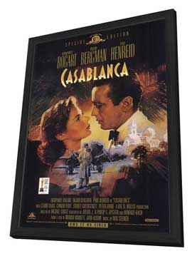 Casablanca - 27 x 40 Movie Poster - Style A - in Deluxe Wood Frame