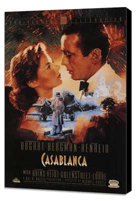 Casablanca - 11 x 17 Movie Poster - Style S - Museum Wrapped Canvas