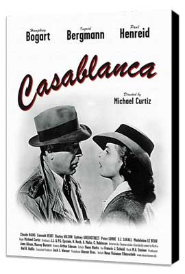 Casablanca - 11 x 17 Movie Poster - Style G - Museum Wrapped Canvas