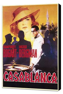 Casablanca - 27 x 40 Movie Poster - Italian Style A - Museum Wrapped Canvas