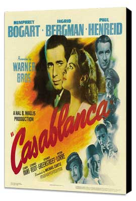 Casablanca - 30 x 30 Movie Poster - Style A - Museum Wrapped Canvas