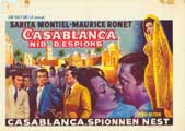 Casablanca, Nest of Spies - 11 x 17 Movie Poster - Belgian Style A