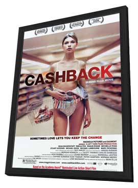 Cashback - 11 x 17 Movie Poster - Style A - in Deluxe Wood Frame