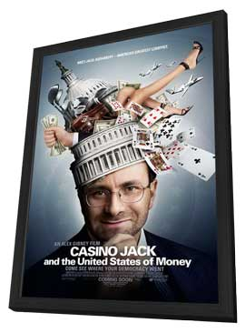 Casino Jack and the United States of Money - 27 x 40 Movie Poster - Style A - in Deluxe Wood Frame