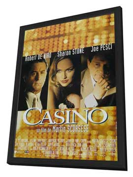 Casino - 11 x 17 Movie Poster - French Style A - in Deluxe Wood Frame