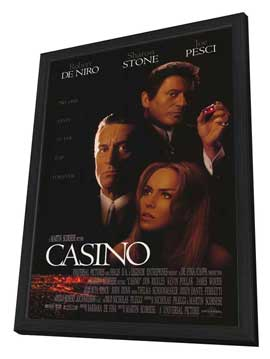 Casino - 27 x 40 Movie Poster - Style A - in Deluxe Wood Frame