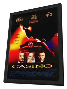 Casino - 27 x 40 Movie Poster - Style B - in Deluxe Wood Frame