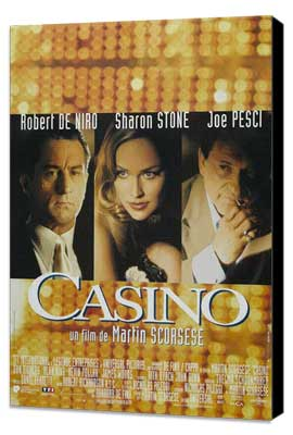 Casino - 11 x 17 Movie Poster - French Style A - Museum Wrapped Canvas