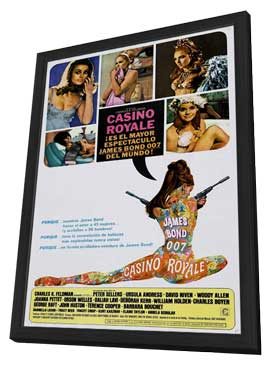 Casino Royale - 11 x 17 Movie Poster - Style D - in Deluxe Wood Frame