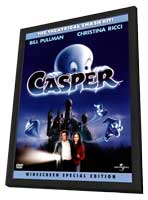 Casper - 11 x 17 Movie Poster - Style D - in Deluxe Wood Frame