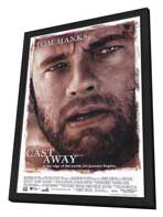 Cast Away - 27 x 40 Movie Poster - Style A - in Deluxe Wood Frame