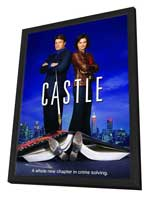 Castle (TV) - 27 x 40 TV Poster - Style A - in Deluxe Wood Frame