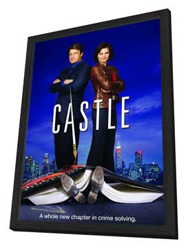 Castle (TV) - 11 x 17 TV Poster - Style A - in Deluxe Wood Frame